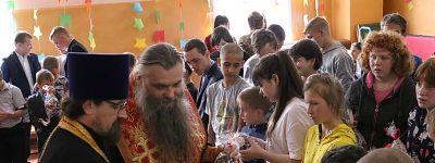 Епископ Валуйский совершил Пасхальный молебен в Валуйской школе-интернате