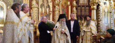 Духовник Патриарха совершил Божественную литургию в Преображенском соборе в Белгороде