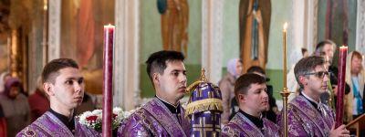 Митрополит Белгородский совершил Божественную литургию в Спасо-Преображенском кафедральном соборе