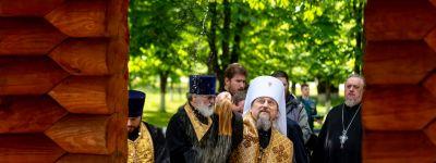 Митрополит Белгородский провёл освящение часовни-ротонды в честь святого Великомученика Георгия Победоносца