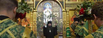 Всенощное бдение состоялось в Спасо-Преображенском кафедральном соборе Губкина