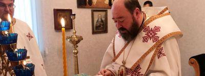 Епископ Губкинский совершил литургию в домовом храме в честь иконы Божией Матери Курской Коренной «Знамение»