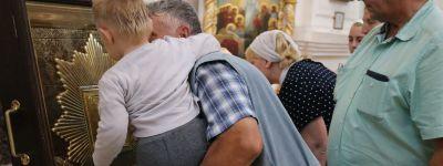 Всенощное бдение состоялось в Свято-Николаевском кафедральном соборе в Валуйках