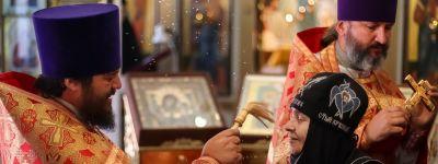 Престольный праздник отметили в Пантелеимоновском храме в Богородице-Тихвинском женском монастыре в Борисовке