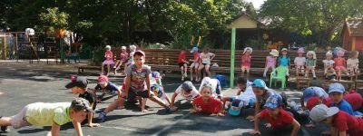 В православном детском саду в Белгороде состоялся праздник в честь Дня физкультурника