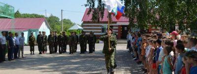 Клирик Свято-Никольского храма в Ракитном поздравил ребят с началом первой смены летнего детского лагеря