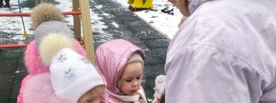 Акцию «Покормите птиц зимой!» продолжают в  корпусе во имя Царственных Страстотерпцев православного детского сада «Рождественский»