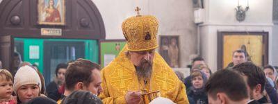 Митрополит Белгородский совершил литургию на Патриаршем подворье в Москве