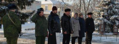 Волоконовский благочинный принял участие в митинге  в честь 78-летия освобождения района
