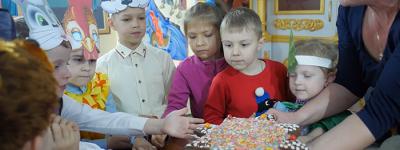 В воскресной школе «Встреча» при Сретенском храме в Лапыгино провели рождественский  утренник