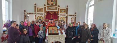 В селе Бирюч в строящемся храме были впервые отслужены всенощное бдение и Божественная литургия