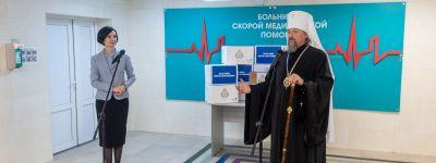 Митрополит Белгородский передал больницам 4100 упаковок антибиотиков для лечения covid