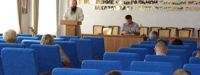 Беседу с сотрудниками УФСИН на тему «Крестный ход как выражение единой народной веры» провел белгородский священник