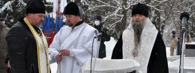 Епископ Валуйский в Крещение выступил на митинге в честь 78-летия  освобождения Валуек от немецких оккупантов