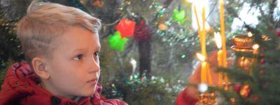 В субботу по Рождестве Христовом, епископ Губкинский совершил литургию в храме в посёлке Пролетарский