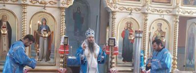 Епископ Валуйский в праздник Иверской иконы Божией Матери совершил литургию в Палатово