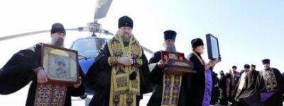 Монахини Богородице-Тихвинского монастыря поблагодарили митрополита Белгородского за воздушный крестный ход