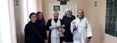 Великое освящение воды состоялось в молитвенной комнате в Яковлевской Центральной районной больнице