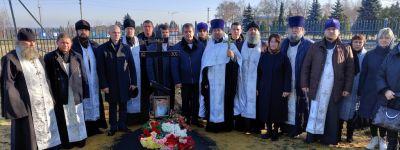Благочинный 2-го Губкинского округа протоиерей Димитрий Карпенко провёл панихиду в 40-й день преставления старейшего клирика епархии