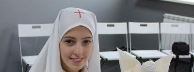 Мастер-класс «Ангел для Маланьи Зимней» провели в «Точке кипения» белгородские сёстры милосердия в День православной молодёжи