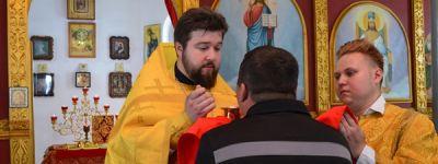 Настоятель Свято-Троицкого кафедрального собора города Алексеевка совершил Божественную литургию в колонии