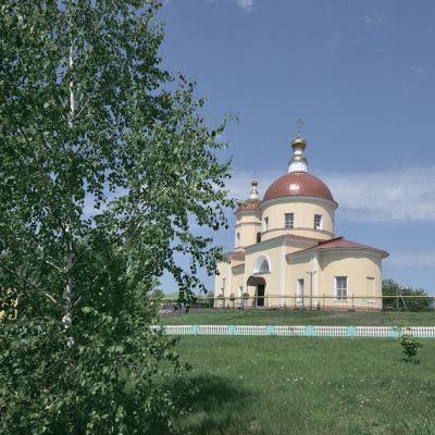 Благовещенско-Михайловский храм в селе Борисовка