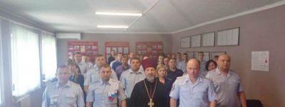 Представитель Губкинской епархии провёл беседу с грайворонскими полицейскими