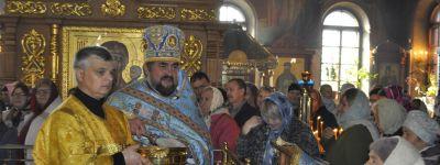 В губкинском соборе пожелали прихожанам быть в радости и не пребывать в унынии и тоске