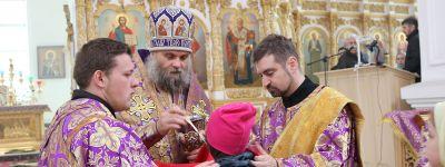 Божественную литургию по чину свт. Василия Великого совершил в Свято-Николаевском кафедральном соборе епископ Валуйский