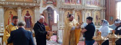 Праздничное Богослужение с участием казаков всех казачьих обществ состоялось в храме в селе Айдар