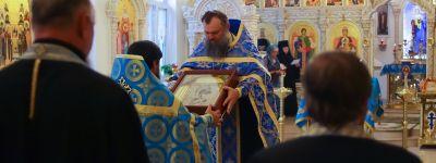 Престольный праздник в честь Тихвинской иконы Божией Матери отметили в Богородице-Тихвинском монастыре