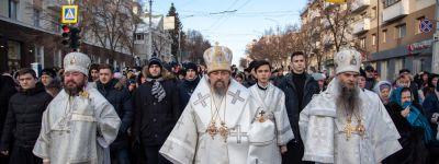 Рождественский крестный ход прошёл в Белгороде с участием митрополита и епископов Белгородской митрополии