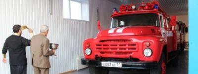 Здание добровольной пожарной дружины освятили в Мелихово