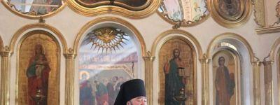 В храме Архангела Михаила села Осколец совершил в литургию епископ Губкинский