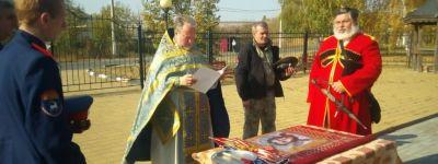 На Покров в Рождественском храме в Рождествено  состоялось освящение штандарта Белгородского отдела Конвоя памяти Царя Николая II