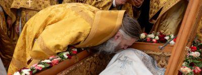 Епископ Губкинский и епископ Валуйский приняли участие в торжествах в честь 109-летия прославления в лике святых епископа Белгородского Иоасафа