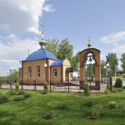 Храм Преподобного Сергия Радонежского в селе Теребрено. Поклонный крест