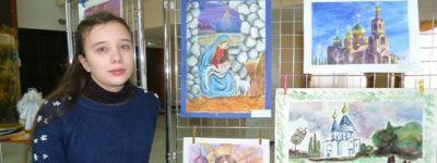 Юная художница из Головчино победила в конкурсе детского творчества «Мой Бог»