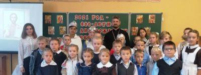 В школе в Борисовке прошла просветительская встреча «Святой защитник Земли Русской – Александр Невский»