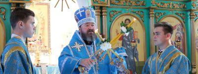 В праздник Рождества Пресвятой Богородицы епископ Губкинский совершил литургию в храме Рождества Богородицы села Алексеевка