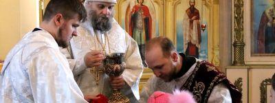 Епископ Валуйский совершил литургию в престольный праздник в храме в селе Афанасьевка