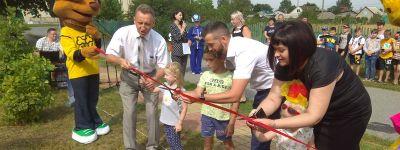 Настоятель Свято-Никольского храма при поддержке президентского гранта построил в селе Незнамово детскую площадку