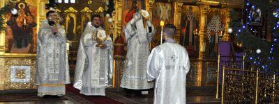 Совместной молитвой встретили праздник обрезания Господня в Спасо-Преображенском кафедральном соборе в Губкине