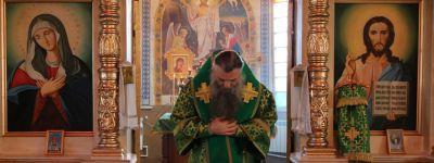 Божественную литургию в храме Рождества Христова села Горки совершил в день Ксении Петербургской епископ Валуйский