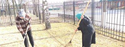 Субботники по подготовке храмов к Пасхе начались в Грайворонском благочинии