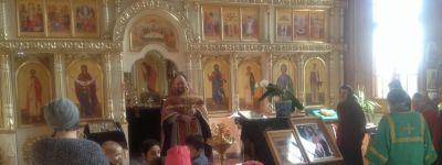 Дети из начального класса побывали в храме святого апостола Андрея Первозванного села Айдар