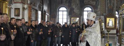 Павших советских воинов вспомнили в губкинском Спасо-Преображенском соборе
