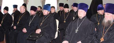 Пастырский семинар по подготовке к совершению Таинства Венчания прошёл в Губкине