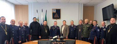 Состоялось совещание представителей Белгородской и Валуйской епархий с атаманами белгородских казаков