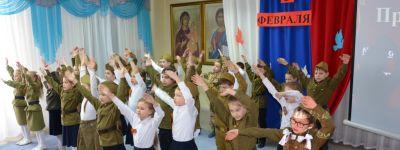 Концерт военной и патриотической песни состоялся в православной гимназии в Старом Осколе в День освобождения города